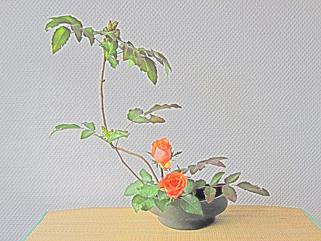 ikebana japanische blumenkunst tenri japanisch